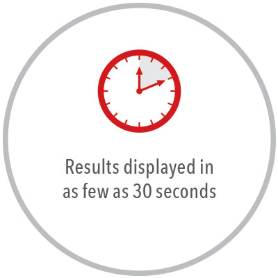 Masimo - Rad-67 Results displayed in as few as 30 seconds